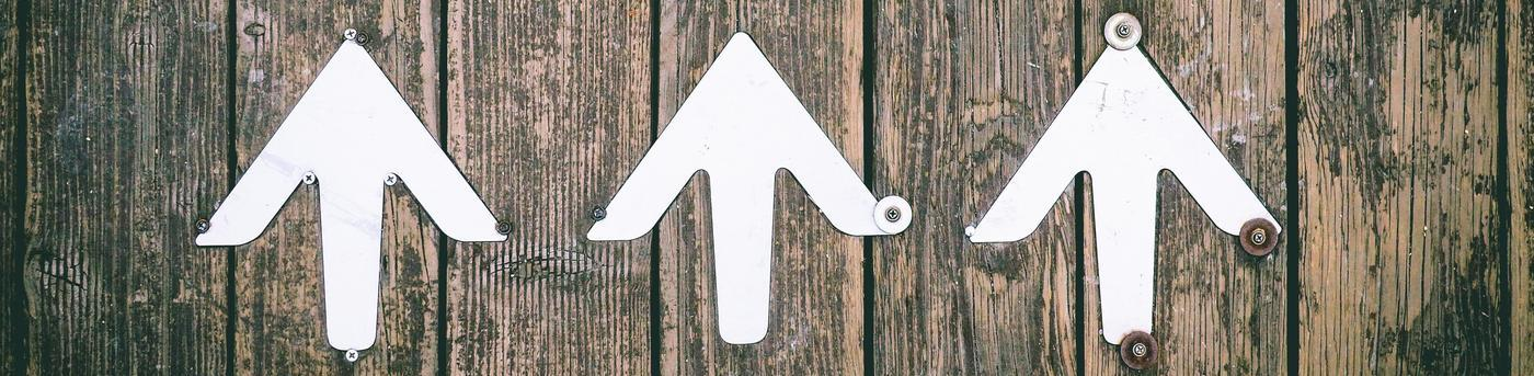 Wood Panel - Arrows Pointing Up