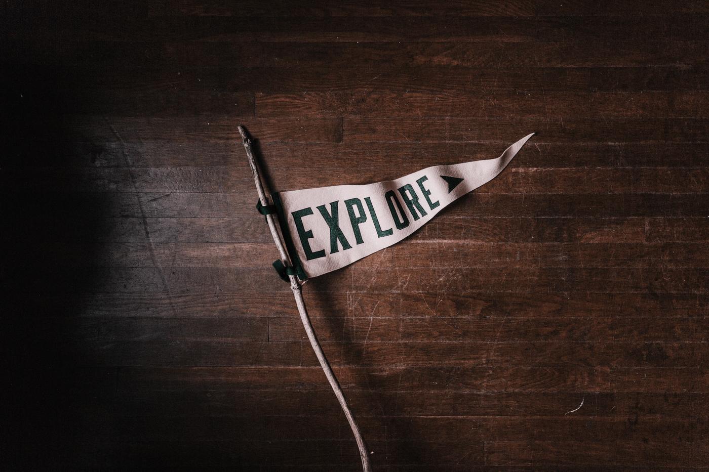 Explore Flag Sign