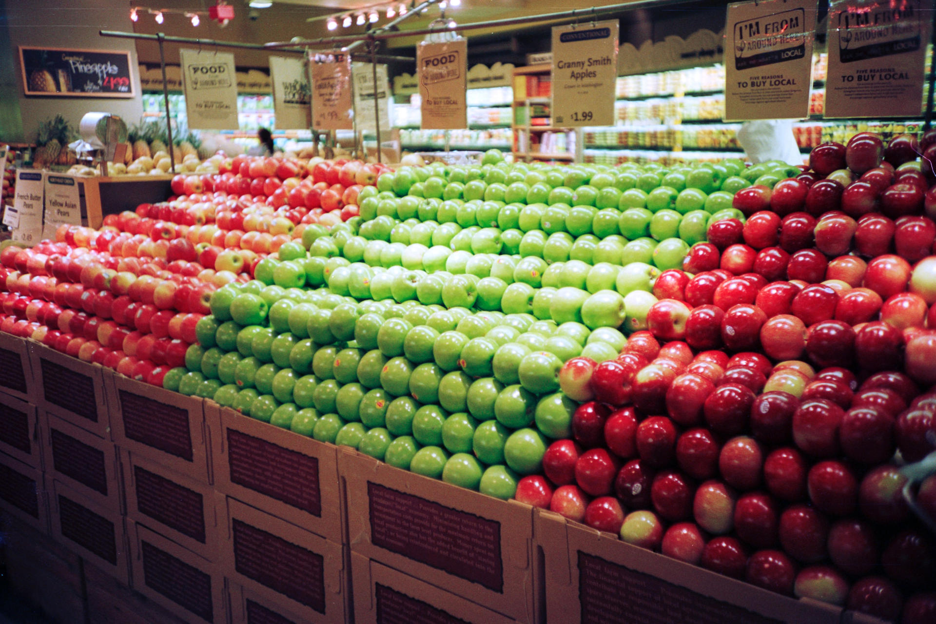 grocery store fruit orderly