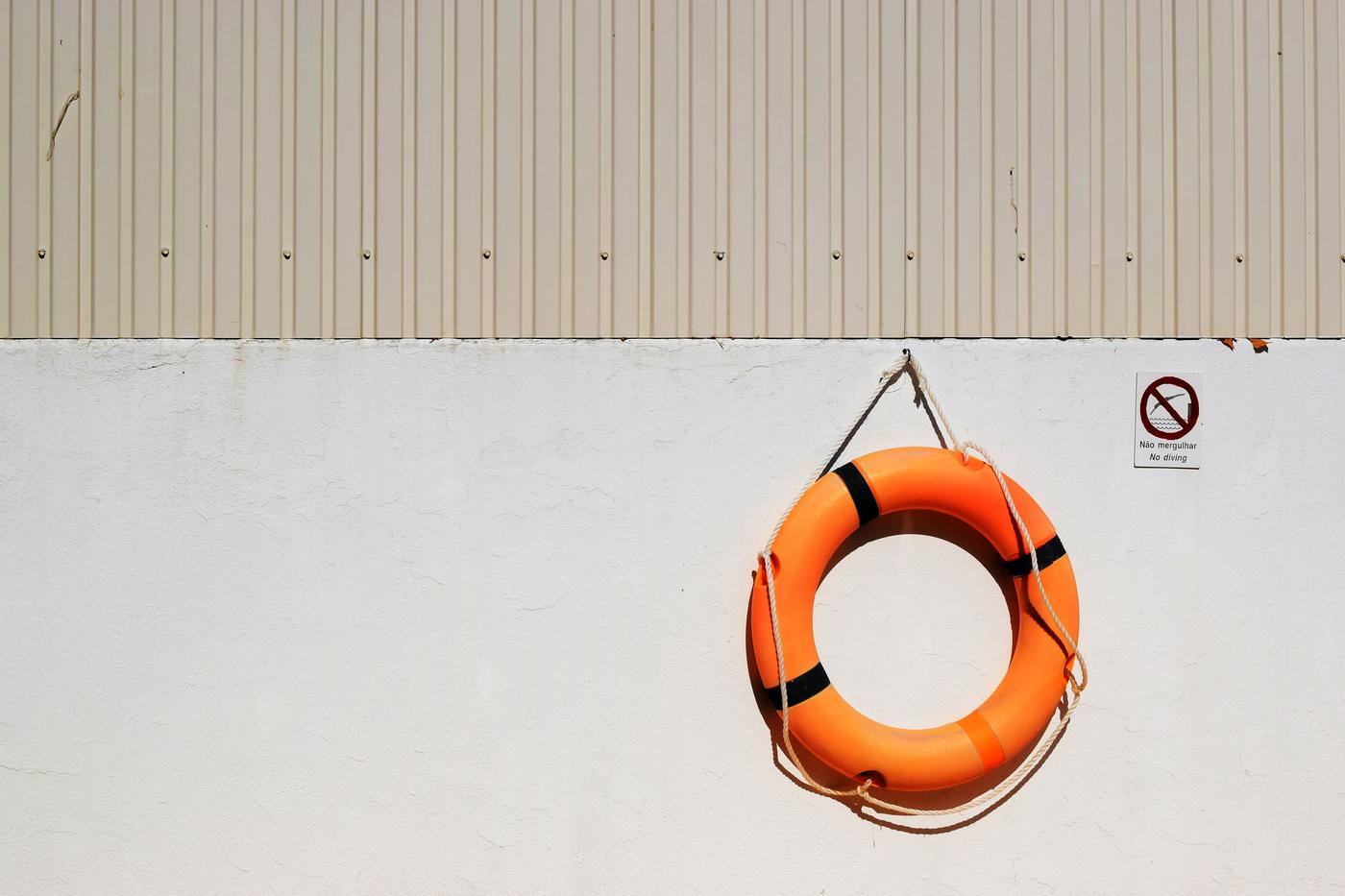 floating life preserver round hanging