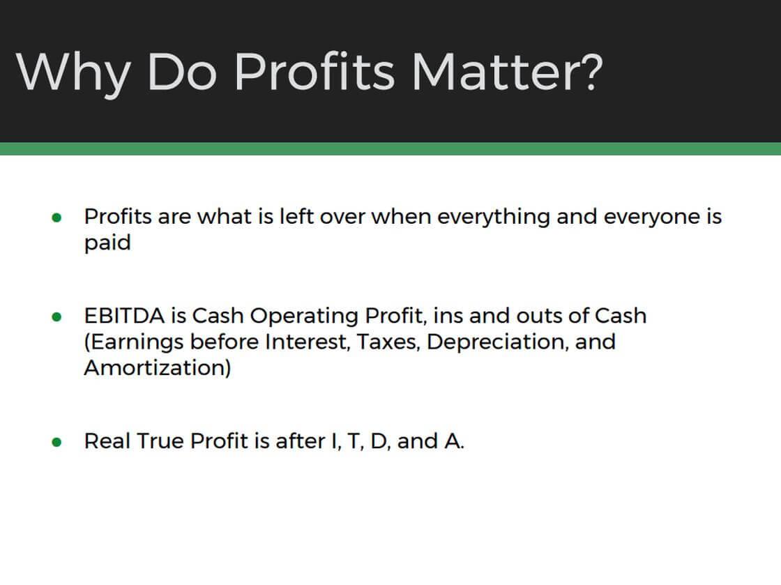 Why Do Profits Matter?
