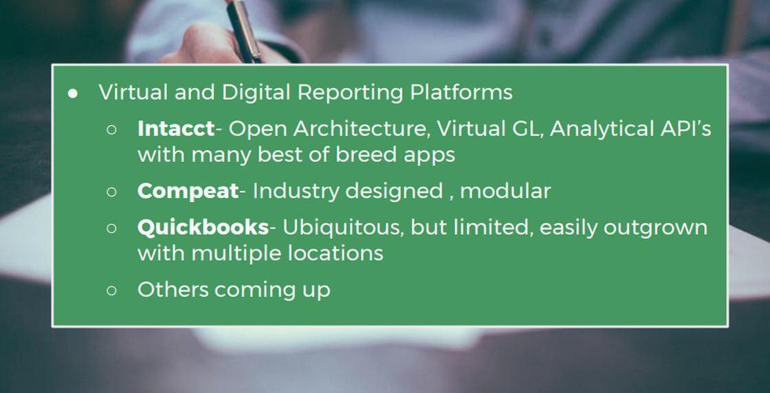 Reporting Platforms