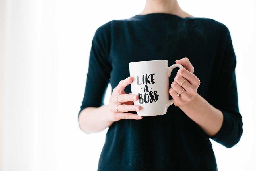 Woman Business Owner Holding A Mug - Like A Boss