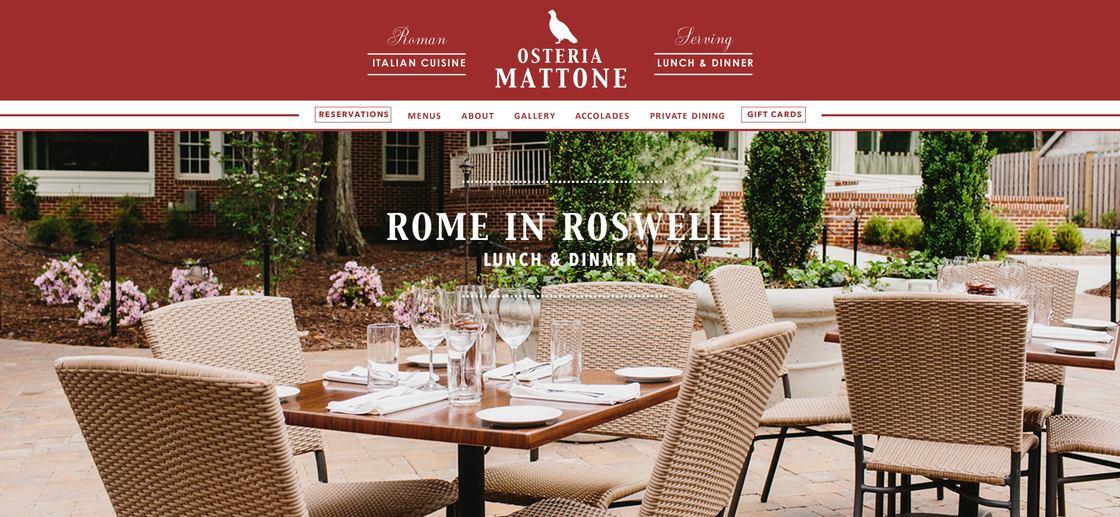 Osteria Mattone Restaurant Cover Website