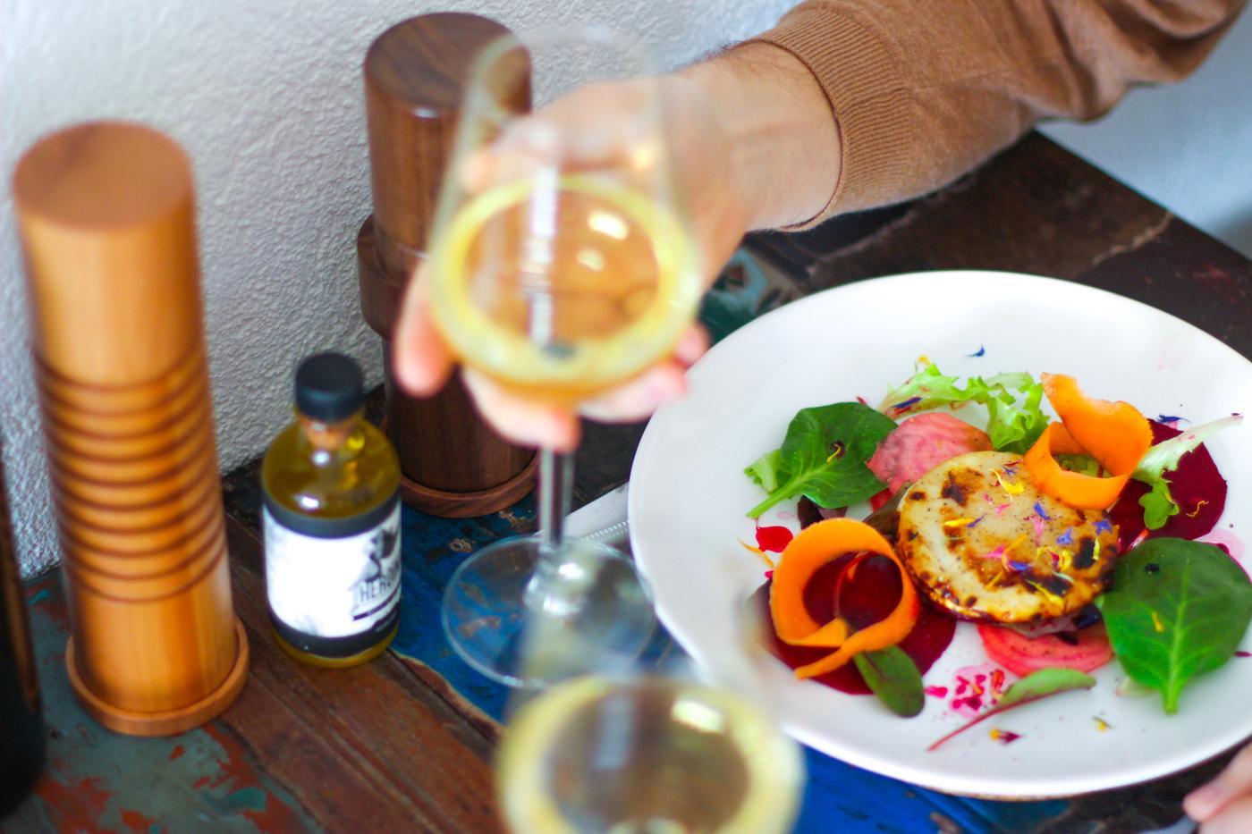 Restaurant Table - Food, Drinks, Salt & Pepper